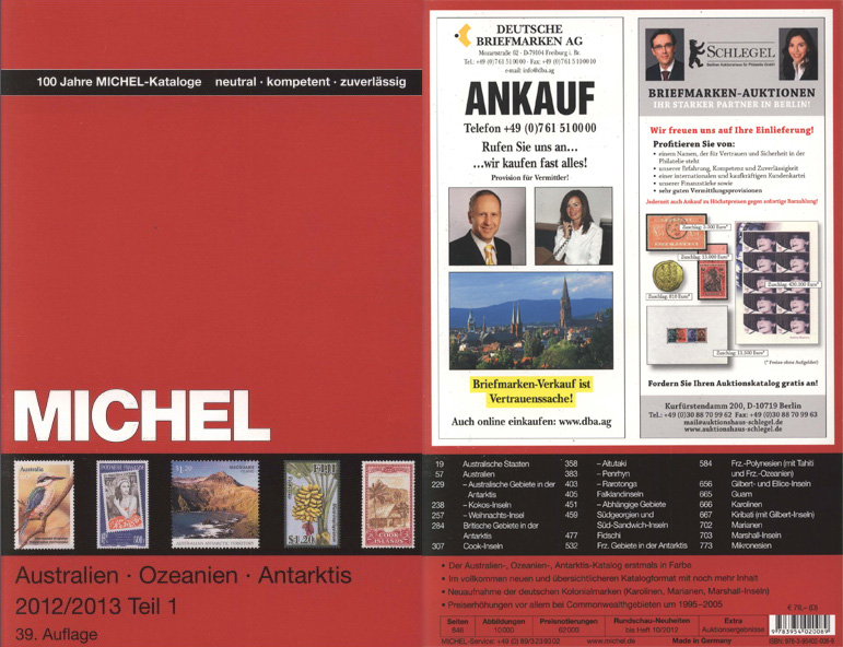 michel australien ozeanien antarktis a m katalog 2012. Black Bedroom Furniture Sets. Home Design Ideas