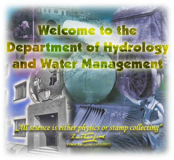Welcome to Department of Hydrology and Water Management